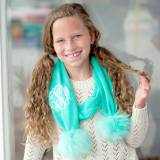 Personalized Mint Green Childs Bella Scarf