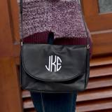 Vegan Leather Monogrammed Black Anna  . . .