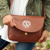 Vegan Leather Monogrammed Camel Anna  . . .