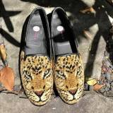 By Paige Ladies Big Cat Needlepoint Loafers