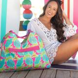 Personalized Totally Tropics Beach Bag