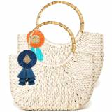 Lisi Lerch Half Moon Bag Large Raffia