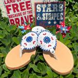 Palm Beach Ocean Avenue Firework Blue Sandals