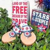Palm Beach Classic Firework Blue Sandals