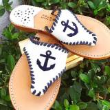 Palm Beach Classic Anchor Sandals White  . . .