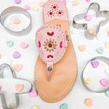 Palm Beach Sandals Ocean Avenue Pink Multi