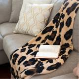Monogrammed Leopard Wild Side Plush Blanket