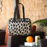 Monogrammed Leopard Wild Side Lunch Tote