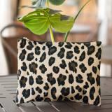 Monogrammed Leopard Wild Side Zip Pouch