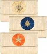 Lisi Lerch Avery Clutch With Round Raffia
