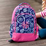 Monogrammed Riley Burst Print Backpack