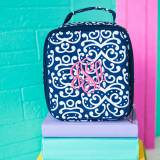 Monogrammed Dani Damask Print Lunch Box