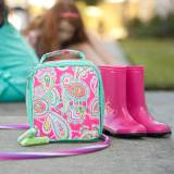 Monogrammed Lizzie Paisley Print Lunch Box