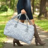 Monogrammed Smokey Leopard Travel Bag