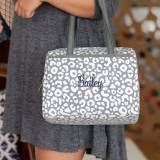 Monogrammed Smokey Leopard Lunch Tote