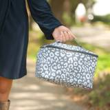Monogrammed Smokey Leopard Cosmetic Bag