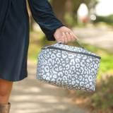 Monogrammed Smokey Leopard Cosmetic Bag