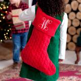 Personalized Red Knit Stocking