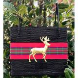 Lisi Lerch Shannon Holiday Plaid And Deer Bag
