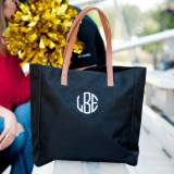 Monogrammed Black Everything Tote
