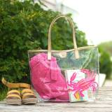 Clear Coastal Crab Summer Tote