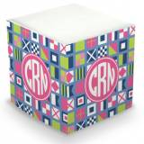 Personalized Nautical Flags Pink Memo Cube