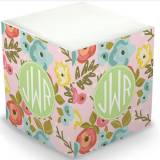 Personalized Bloom Blush Memo Cube