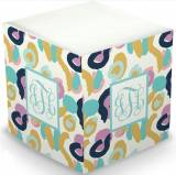 Personalized Orchid Free Brush Memo Cube