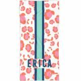 Personalized Leopard Spots Pink Beach Towel