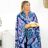 Monogrammed Gypsea Blue Plush Blanket