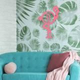 Flamingo Wood Monogram To Personalize