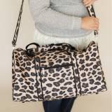 Monogrammed Leopard Duffel Bag