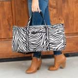 Monogrammed Zebra Duffel Bag