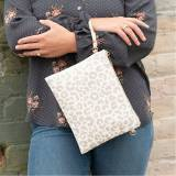Monogrammed Natural Leopard Crossbody  . . .