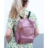 Boulevard Hailey Backpack In Black Or Mauve