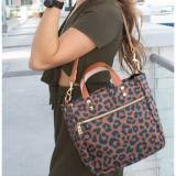 Boulevard Joey Leopard Personalized Tote