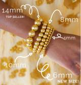Lisi Lerch Georgia Gold Beaded Bracelet