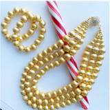 Lisi Lerch Diana Gold Triple Strand Beaded  . . .
