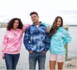 Personalized Tie Dye Quarter Zip Sweatshirt