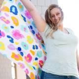 Monogrammed Fun Leopard Beach Towel