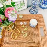 Lisi Lerch Handwoven Tray With Charm