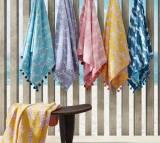 Matouk Leaping Leopard Cotton Beach Towel