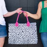 Monogrammed Spot On Open Top Tote