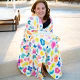 Personalized Fun Leopard Plush Blanket