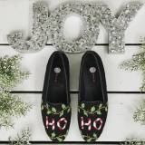 Needlepoint Christmas Loafers Hand  . . .