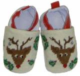By Paige Baby Needlepoint Rudolph Booties