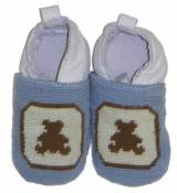 By Paige Baby Needlepoint Brown Bear Booties