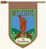 Monogrammed Birdhouse Flag