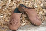 Brown Nubuck Brown Thread, Brown Flex Heel