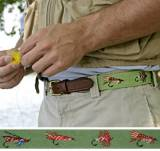 Fishing For Flies Needlepoint Belt